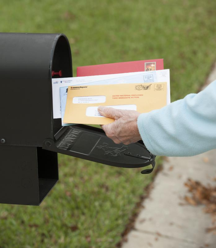 Certified mail typically has a delivery receipt.
