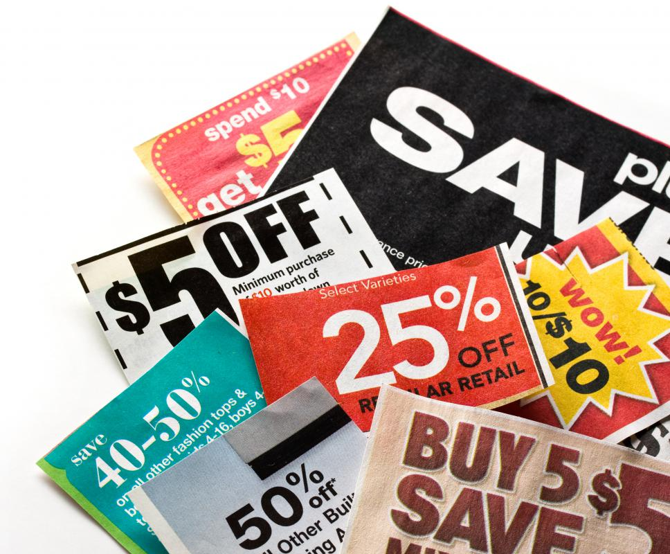 Manufacturer coupons offer a percentage or flat amount off the purchase of an item.