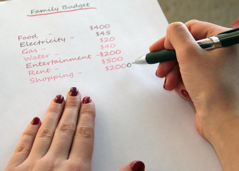Determining household wealth helps people plan a budget.