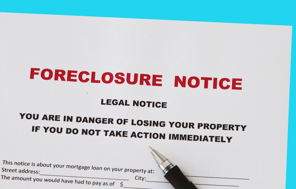 Homeowners who are unable to meet the terms of their mortgage may face bank foreclosure.