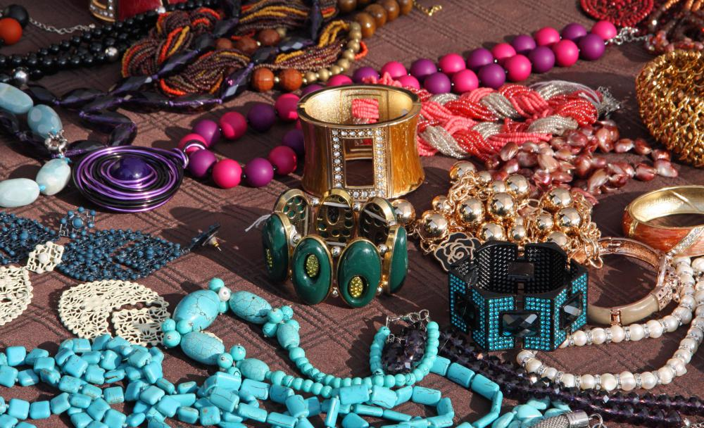 Vintage jewelry may be sold at an estate sale.