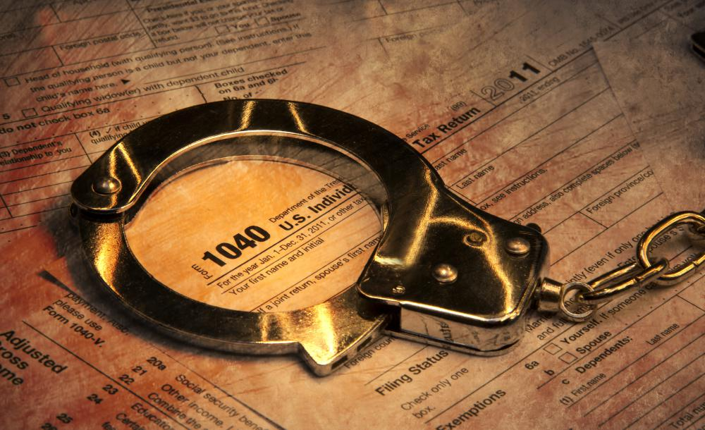 Committing tax fraud can lead to an arrest and possible prison time.