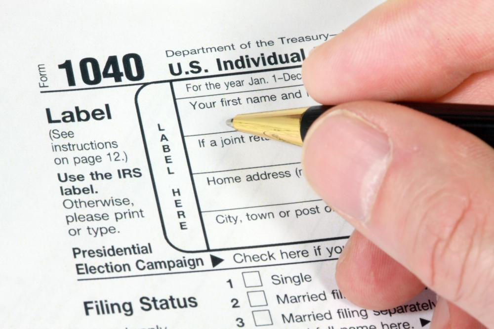 Tax refunds are issued upon filing an income tax return.
