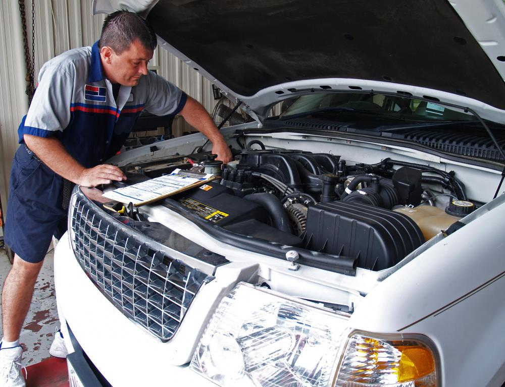 Claims adjusters may work with auto mechanics who inspect a vehicle and assess damages.