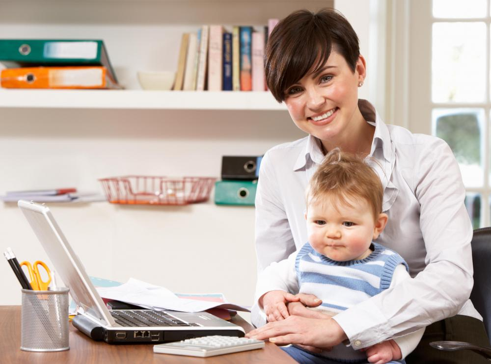 Telecommuting might be an ideal work setup for new parents.