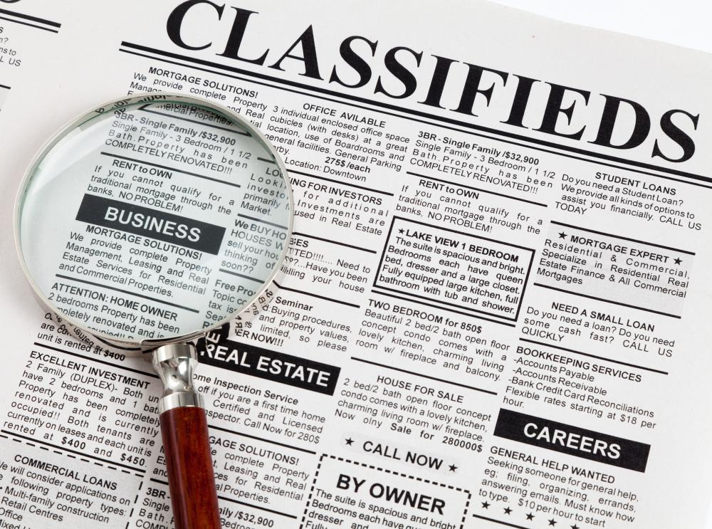 Barter transactions can be conducted through classifieds.