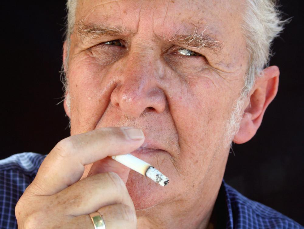 A 65-year-old male smoker will have a higher premium than a 25-year-old male non-smoker.
