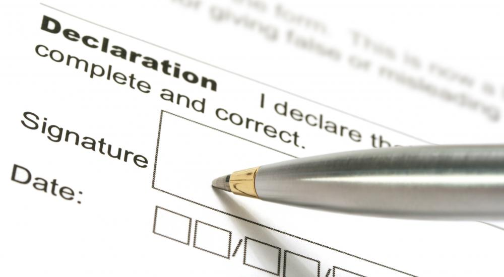 A form 1040 requires a sworn signature.