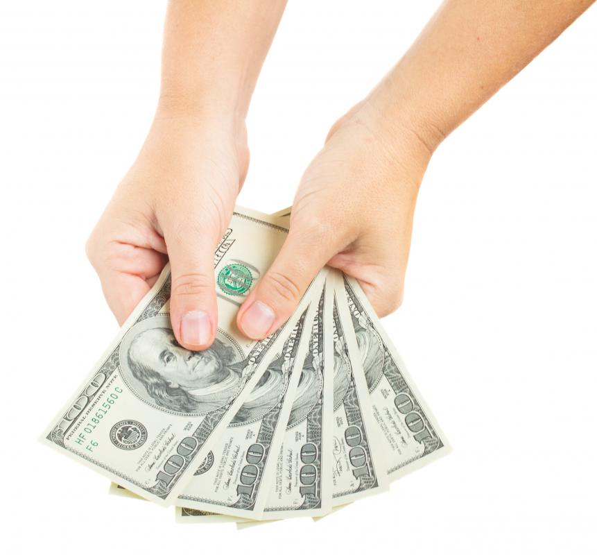 Cash handling involves tracking the acceptance and disbursement of cash in a business.