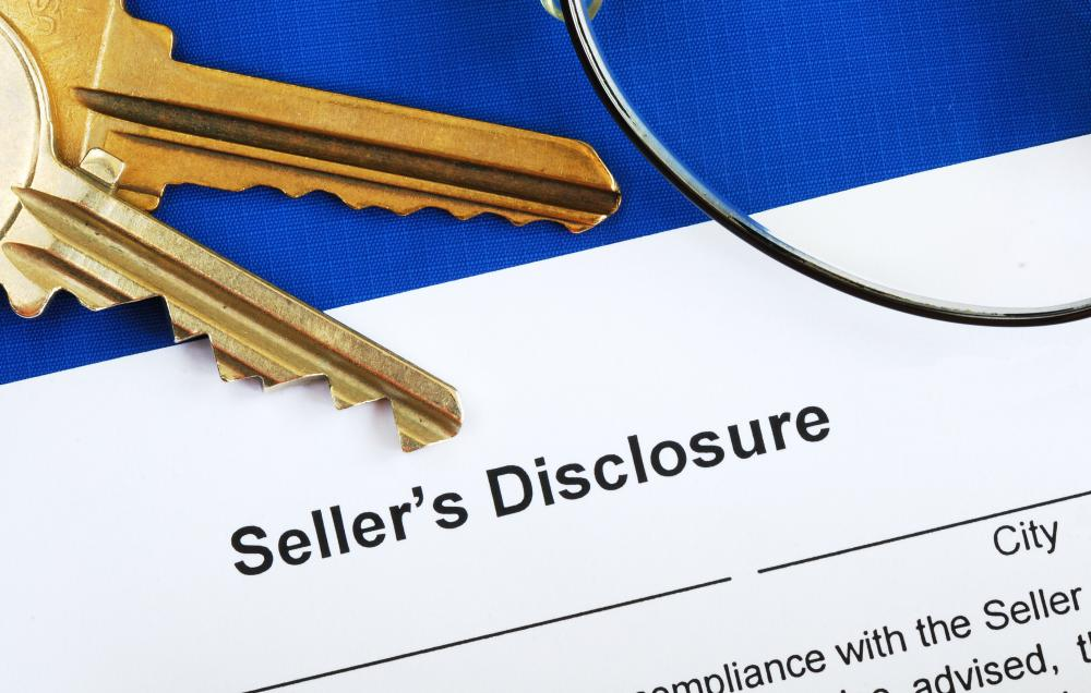 Disclosure statements may be used in real estate to disclose possible problems with a property up for sale.