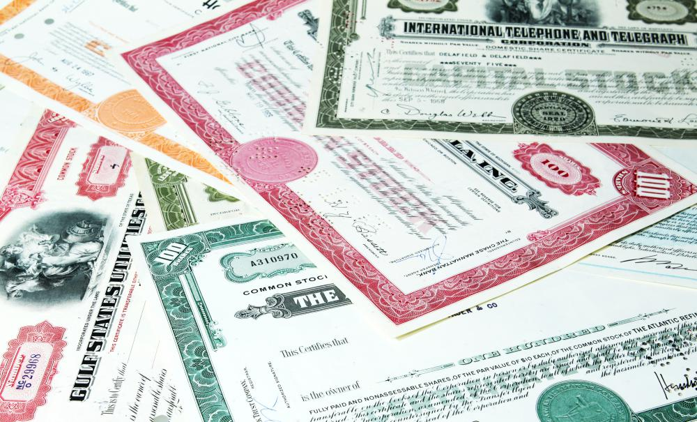 Physical stock certificates are rarely used today.