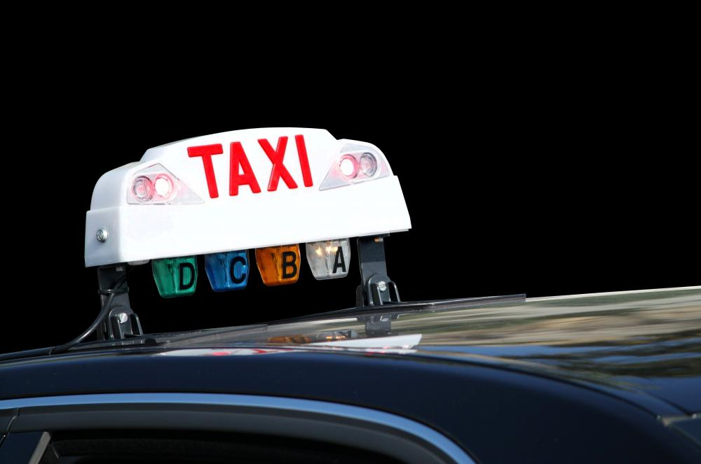 There is a service fee involved in ordering taxi service.