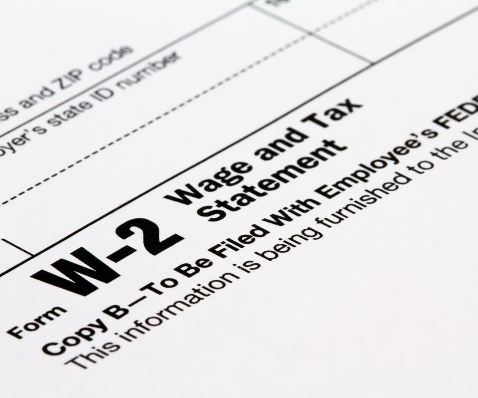 A W-2 wage and tax statement is issued by an employer and states how much an employee was paid in a year.