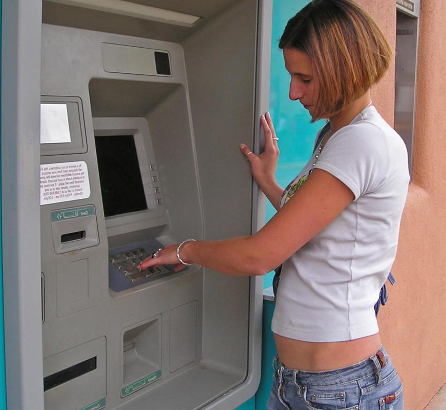 A debit card gives someone the ability to withdraw cash from an ATM.