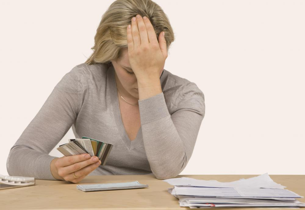 Many financial experts believe excessive credit card debt occurs when a person is unable to pay off at least some of the real balance on a card.