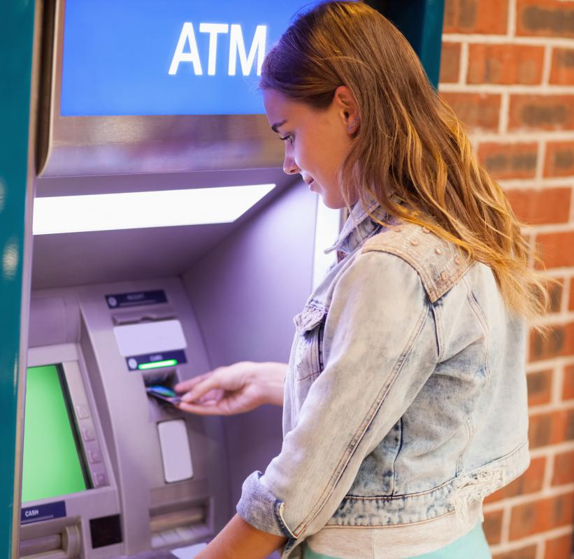 Many cards will allow customers to get a cash advance from an ATM.